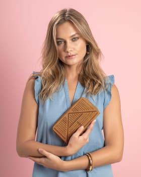 billetera femenina 19x10cm-852- Cafe Medio-MainImage