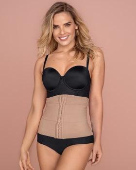 3-belt custom waist cincher with lumbar support-857- Brown-MainImage