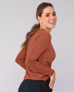 camisa manga larga basica para mujer-179- Terracota-MainImage