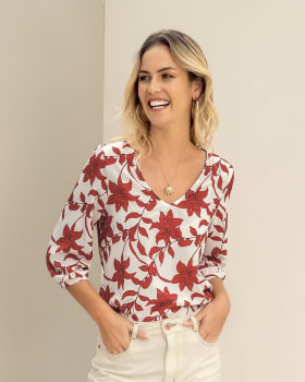 blusa manga 34 estampada elaborada en tela ecologica-145- Estampado-MainImage