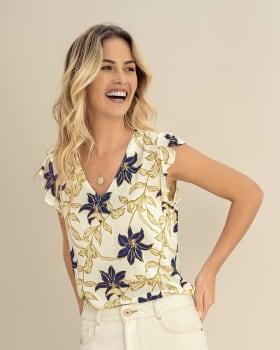 blusa manga sisa en tela ecologica con boleros en mangas-145- Estampado-MainImage