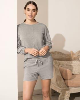 short corto de pijama con bolsillos funcionales-732- Gris Jaspe-MainImage