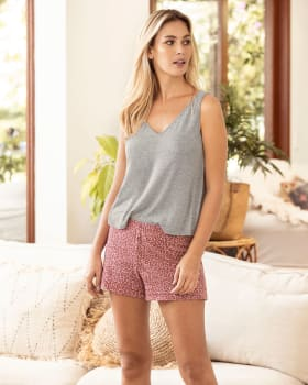 short corto de pijama con elastico en cintura-145- Estampado Animal Print-MainImage