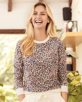 buzo de pijama manga larga con cuello y punos en contraste-145- Estampado Animal Print-MainImage
