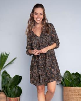 vestido corto estampado flores de manga amplia-061- Paisley-ImagenPrincipal