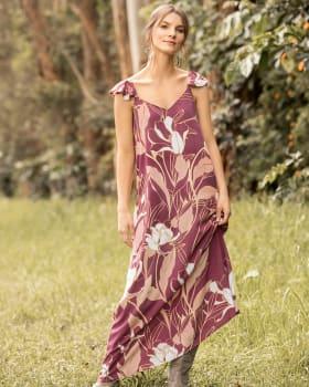 vestido tiritas con volantes en hombros silueta amplia-173- Vino Estampado-ImagenPrincipal