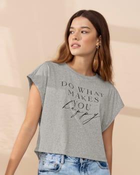camiseta manga sisa tipo crop top en algodon reciclado y organico-288- Gris Jaspe-MainImage