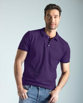 blusa tipo polo con tejido en cuello y mangas-409- Uva-MainImage