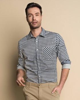 camisa manga larga con punos en contraste-145- Cuadros-MainImage