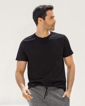 camiseta para hombre manga corta silueta semiajustada-700- Black-MainImage
