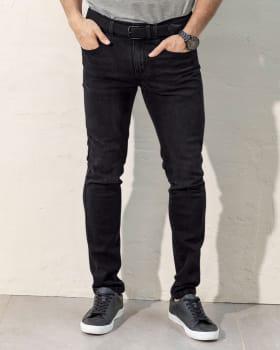 jean skinny para hombre tejido plano-700- Negro-MainImage