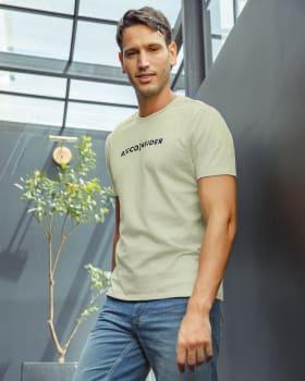 camiseta manga corta elaborada en algodon reciclado y algodon organico-172- Verde Claro-MainImage