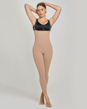 post-surgical full-length open bust light body shaper-852- Beige-MainImage