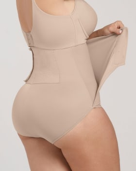 post-surgical velcro closure firm compression panty-802- Nude-MainImage