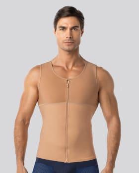 mens firm compression post-surgical shaper vest-864- Nude-MainImage