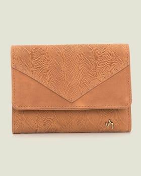 billetera femenina con textura de evocacion botanica-802- Miel-MainImage