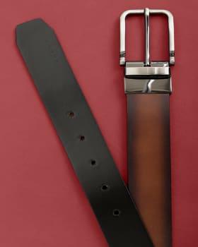 cinturon doble faz masculino bordes efecto envejecido - velez-802- Café-MainImage