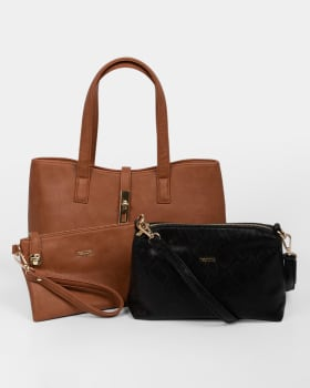 bolso tipo shopping femenino - nappa-802- Café Claro-MainImage