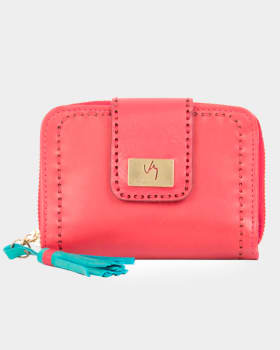 billetera femenina stitch con fleco en contraste de color velez-302- Rojo-MainImage