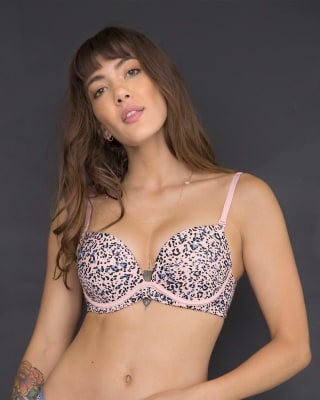 extreme push up bra - add 2 sizes-774- Rosado Estampado-MainImage