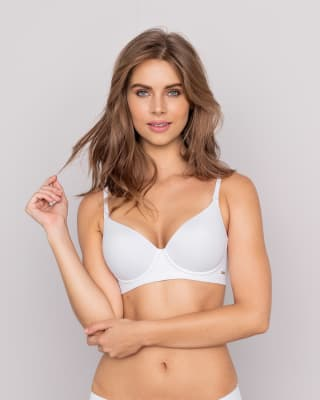 invisible high push up bra with memory form-000- White-MainImage