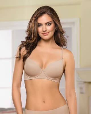 invisible high push up bra with memory form-802- Nude-MainImage