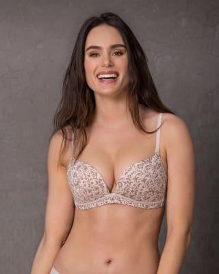 brasier doble realce sin aro - power bra-499- Est. Floral Dorado-MainImage