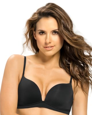 light wireless high push up bra-700- Black-MainImage