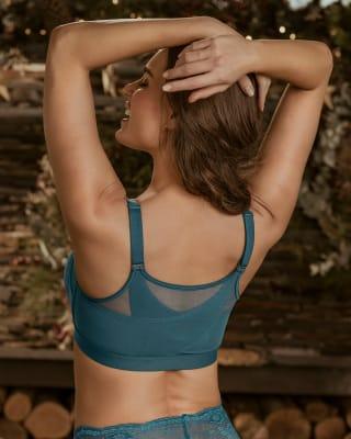 brasier facilitador de postura con copas en espuma multibenefit-294- Azul Petróleo-MainImage