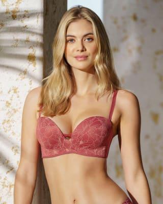 brasier wow de triple realce ideal como strapless-497- Rojo Estampado-MainImage