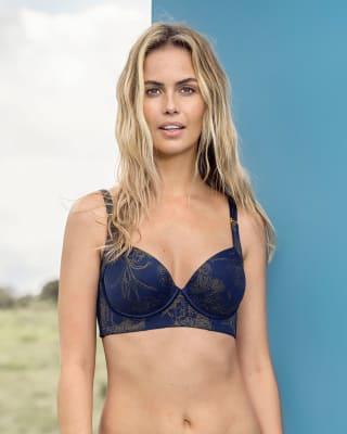 brasier de realce suave y cubrimiento alto en sisa y espalda - cover bra-479- Azul Flor-MainImage