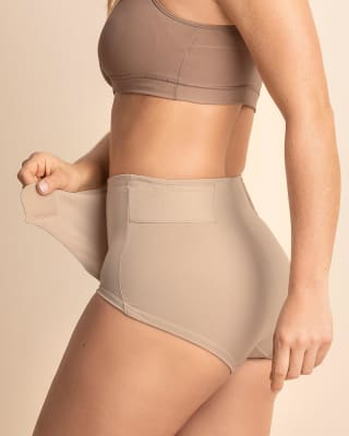 firm compression postpartum panty with adjustable belly wrap--MainImage