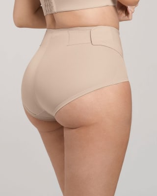 firm compression postpartum panty with adjustable belly wrap-802- Nude-MainImage