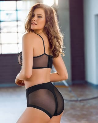 panty clasico invisible con tul-700- Black-MainImage