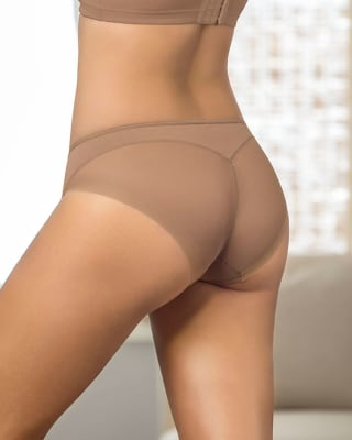 panty estilo bikini transparente de control suave--MainImage