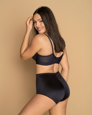 high-waisted classic knicker shaper-700- Black-MainImage