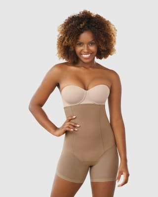panty faja strapless - invisible con efecto de tanga brasilera-857- Brown-ImagenPrincipal