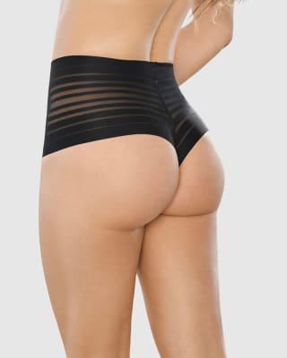 panty alto de control suave con encaje en bandas--ImagenPrincipal