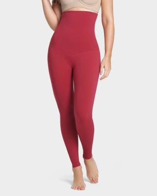 leggings de talle alto con control fuerte de maximo poder-384- Rojo Oscuro-ImagenPrincipal
