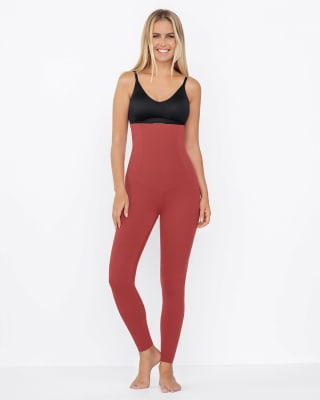 extra high waisted firm compression legging-391- Rojo Coral-MainImage