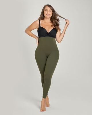 legging de tiro alto con control fuerte de abdomen-695- Green-MainImage