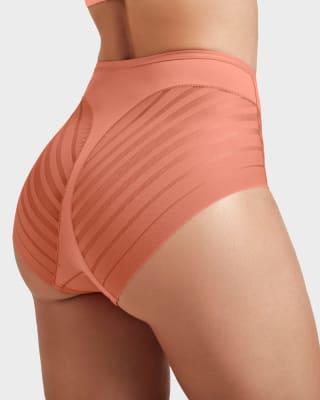 panty faja clasico con control suave de abdomen y bandas de tul-163- Naranja Medio-MainImage