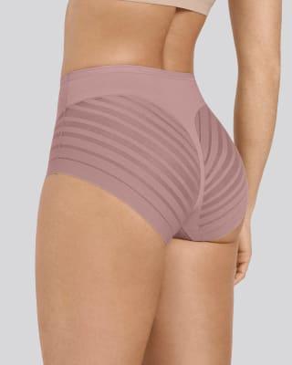 panty faja clasico con control suave de abdomen y bandas de tul-281- Pink-MainImage