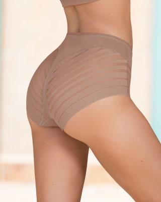 panty faja clasico con bandas de tul-857- Brown-MainImage