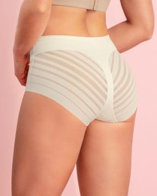 calzon faja clasico con control suave de abdomen y bandas de tul-898- Ivory-MainImage