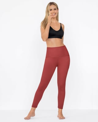firm compression butt lift legging - activelife-391- Rojo Coral-MainImage