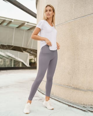 super-soft moderate compression butt lift legging  activelife-758- Gris Lila-MainImage