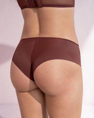 sexy calzon cachetero en tela ultraliviana con encaje comodidad total-A21- Vino-MainImage