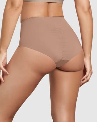 eco-friendly classic high waist shaper panty-857- Cafe Medio-MainImage