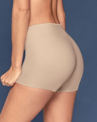 eco-friendly seamless panty short - made of recycled plastic bottles-802- Beige-MainImage